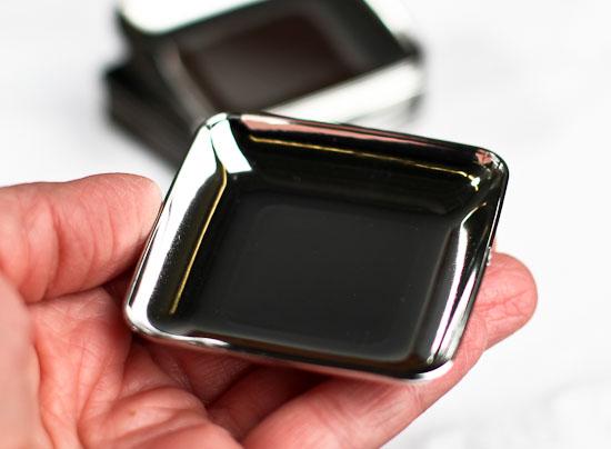 Small Silver Plastic Appetizer Plates Mini Kitchen