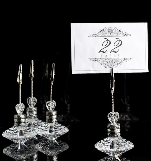 Retro Style Crystal Placecard Holders Placecards Place Card