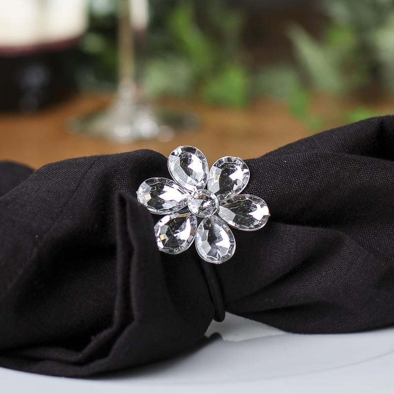 Rhinestone Flower Napkin Rings Wedding Centerpieces Wedding