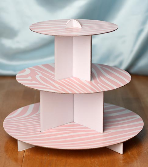 Cardboard Cupcake Stand Wilton 4 Tier Stacked Cupcake And