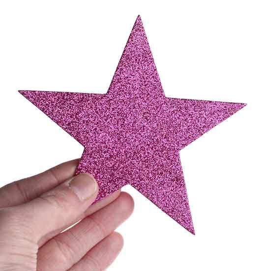 Pink glitter craft foam stars foam kids crafts craft for Glitter crafts for kids