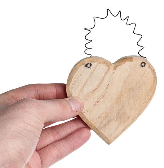 Unfinished wood heart ornament cutouts