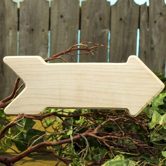 Unfinished wood arrow wooden plaques and signs for Wood plaques for crafts