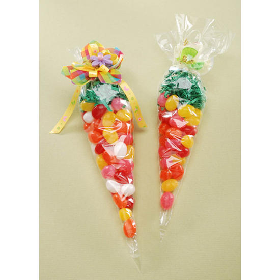 Clear Cone Treat Bags - Bags - Basic Craft Supplies - Craft Supplies