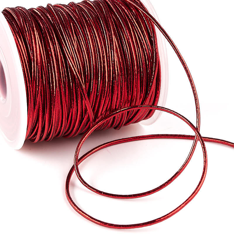 Red Metallic Elastic Cord 50 Yards Wire Cord Jewelry