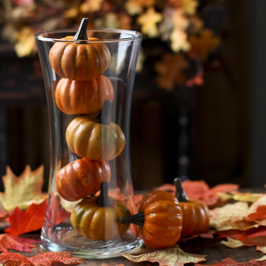 Miniature Artificial Pumpkins Vase Fillers Table Scatters
