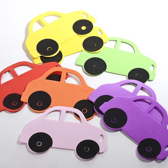 Assorted craft foam cars craft foam kids crafts for Car craft for kids