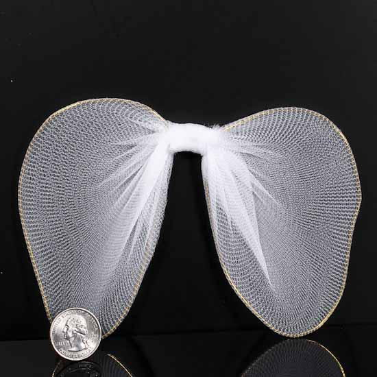 white nylon angel wings - angel wings - doll making supplies