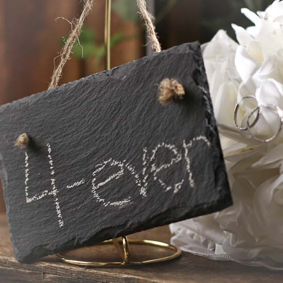 Natural Slate Chalkboard Ornament Sign Wall Decor Home