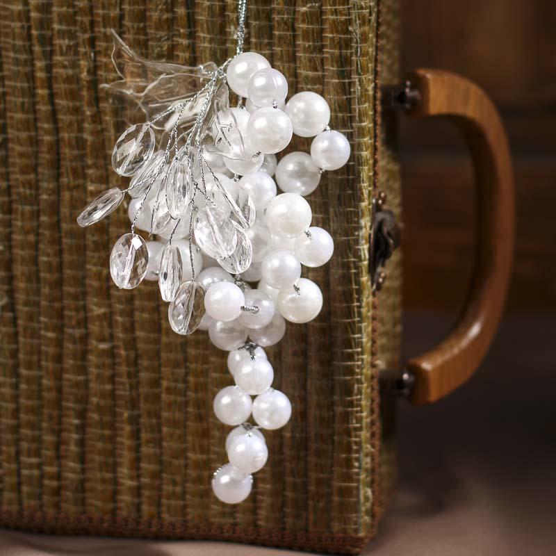 "7"" Acrylic Pearl Grape Cluster Ornament - Christmas ..."