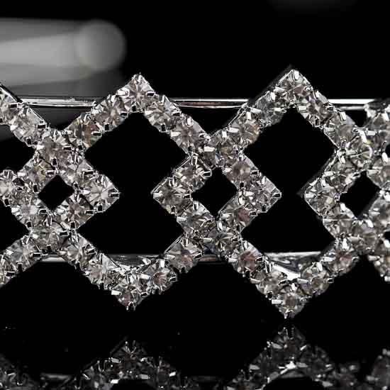 Crystal Rhinestone Diamond Pattern Headband - Hair ...