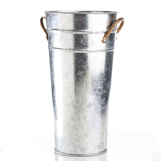 galvanized metal french flower bucket baskets buckets