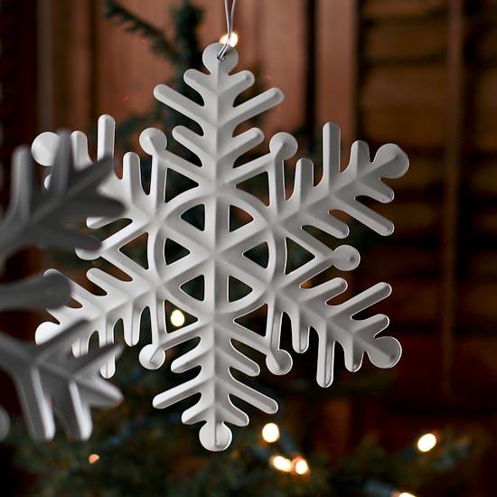 Beach Christmas Cards >> Ivory Metal Snowflake Ornament - Christmas Ornaments - Christmas and Winter - Holiday Crafts