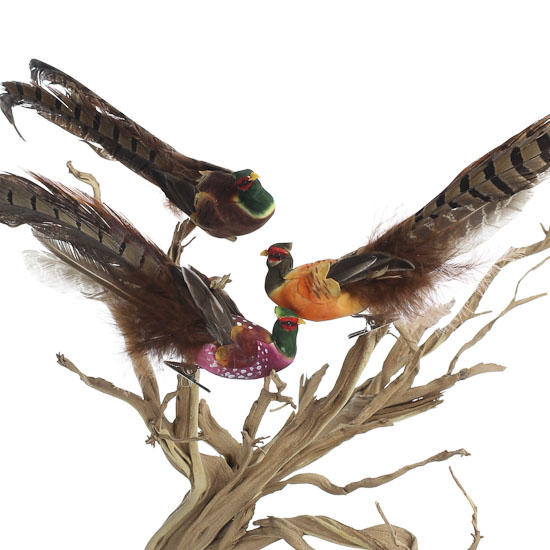 11 natural feather artificial pheasant bird birds for Synthetic feathers for crafts