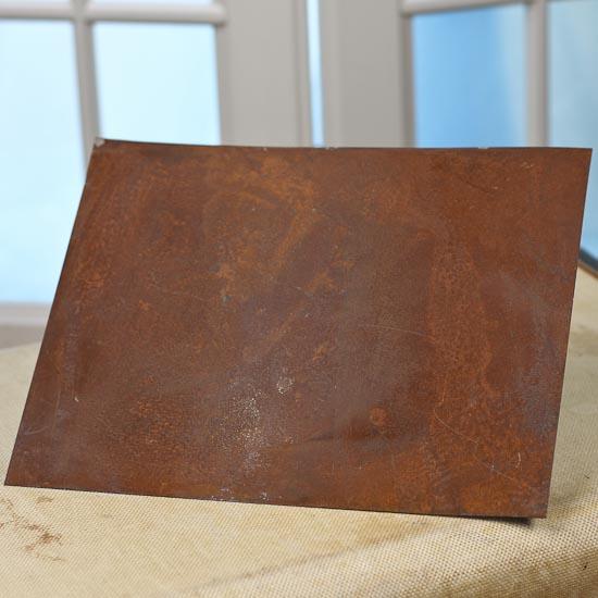 Primitive Rusty Tin Sheet Basic Craft Supplies Craft