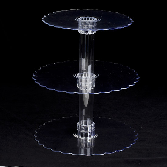 3 Tier Clear Acrylic Cupcake Display Stand Wedding Cake
