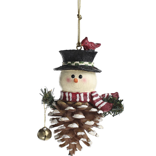 Pinecone snowman ornament christmas ornaments for Pine cone christmas ornaments crafts