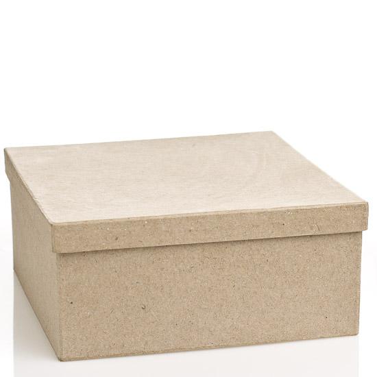 Square Paper Mache Box Paper Mache Basic Craft