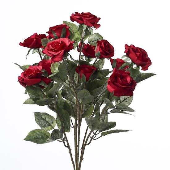 red artificial rose bush - bushes and bouquets