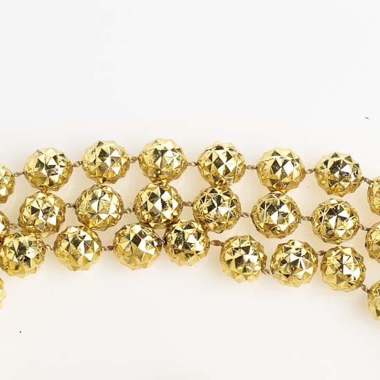 10mm metallic gold faceted bead garland 9