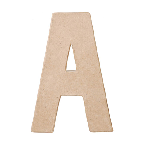 "Paper Mache Letter ""A"" - Paper Mache - Basic Craft Supplies - Craft ..."