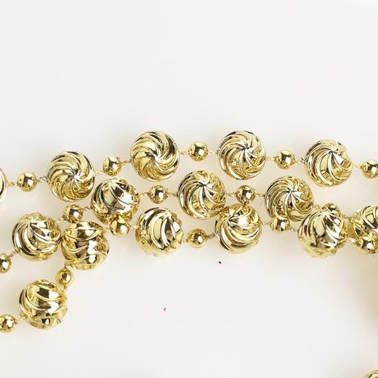 10mm metallic gold swirl bead garland 9