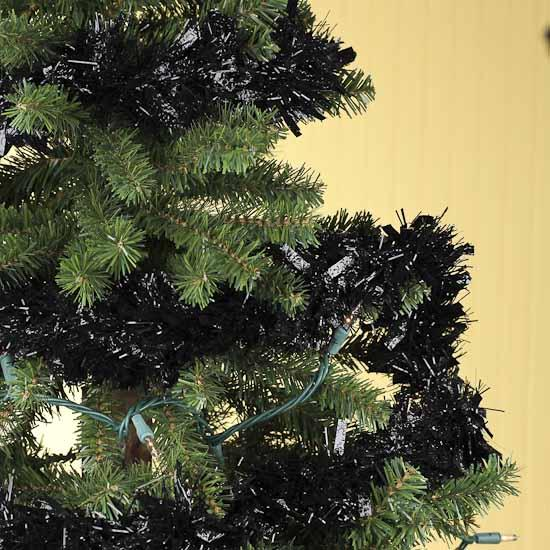 Black tinsel garland feet christmas and winter sale