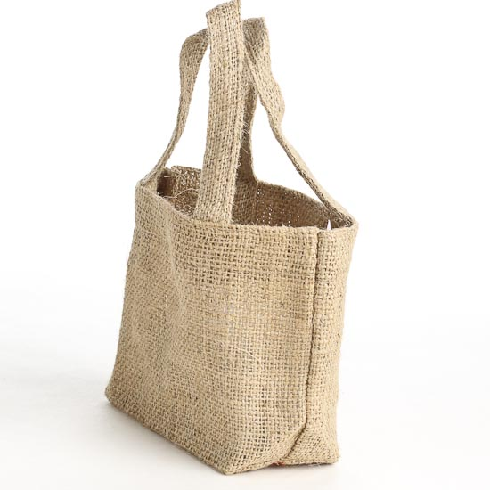 Small Natural Jute Burlap Bag