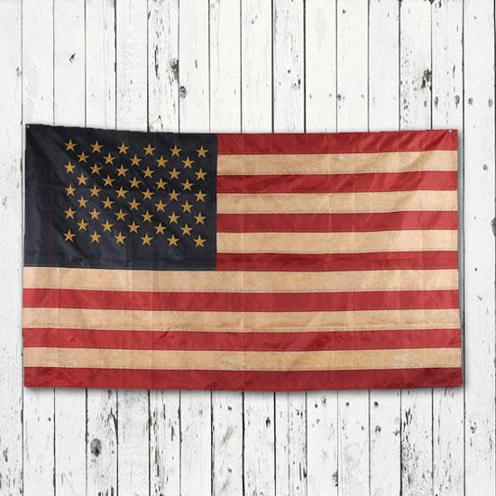 Primitive Tea Dyed American Flag Wall Decor Home Decor