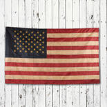 Primitive Tea Dyed American Flag