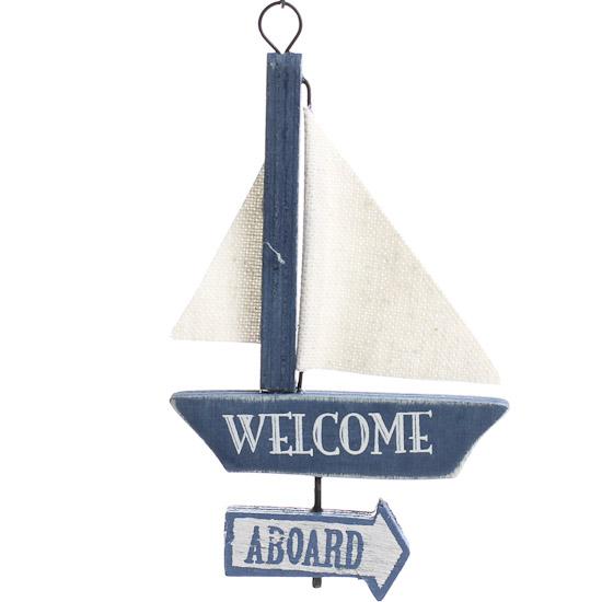 Welcome Aboard Sailboat Ornament Home Decor