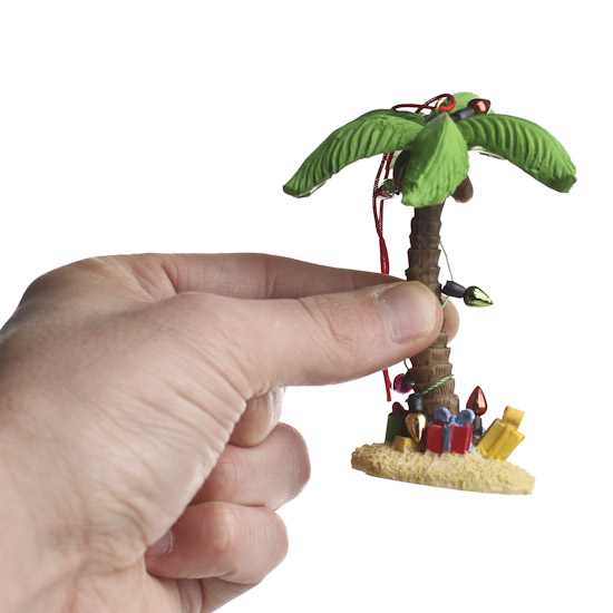 palm tree christmas ornaments
