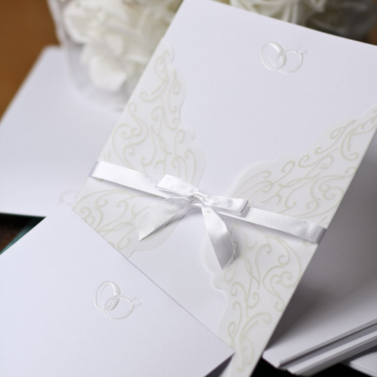 double ring printable wedding invitation kit with vellum With wedding invitation kits with vellum