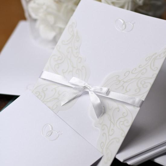 double ring printable wedding invitation kit with vellum With wedding invitation kits with vellum