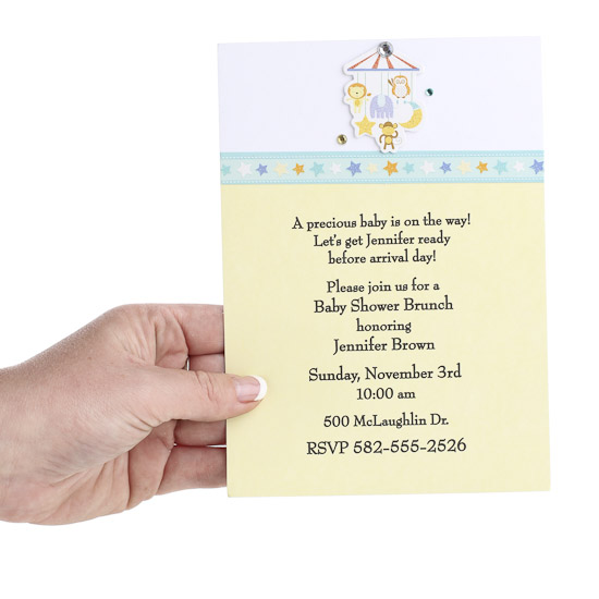 create-your-own baby shower invitations