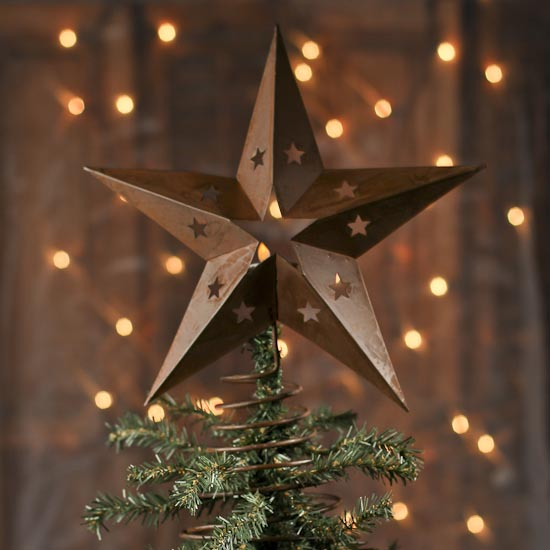 click here for a larger view - Rustic Christmas Tree Topper