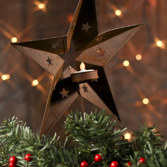 Star For A Christmas Tree: Rusty Barn Star Tree Topper