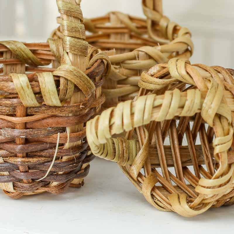 Bamboo Basket Making Supplies : Dollhouse miniature wicker baskets kitchen miniatures