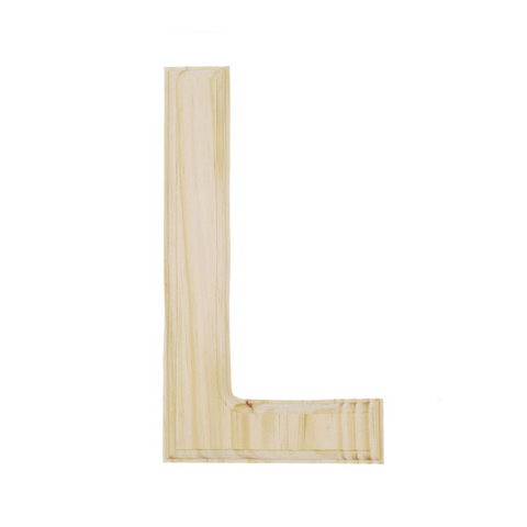 letters to numbers 6 quot beveled unfinished wood letter l word and letter 31917