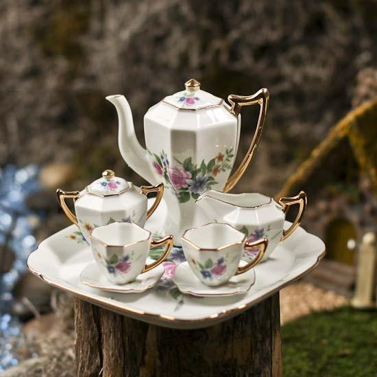 Miniature Ceramic China Tea Set Miniatures Sale Sales