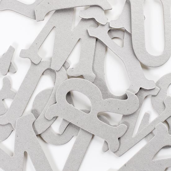 Chipboard capital letters scrapbooking craft supplies for Where to buy chipboard letters