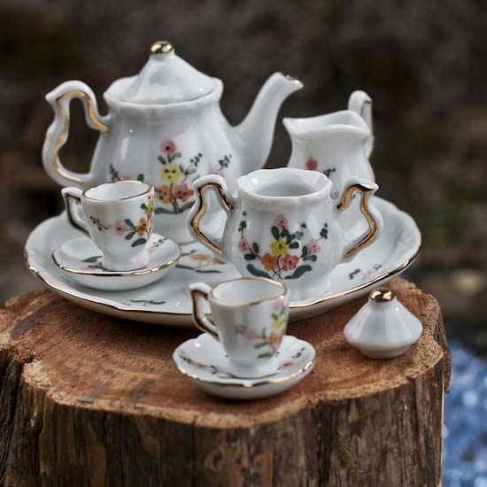 Miniature Floral Pattern China Tea Set What S New