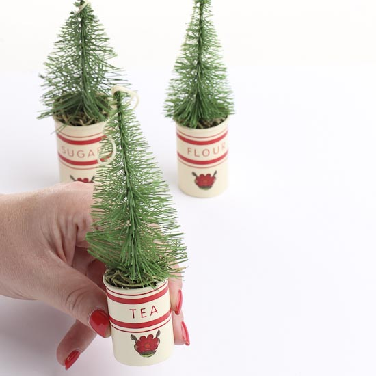 Miniature Canister Christmas Tree Ornaments What 39 S New