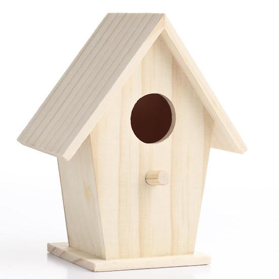 Small Unfinished Wood Birdhouse Wood Miniatures Wood