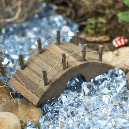Miniature Fairy Garden Wooden Bridge What 39 S New Dollhouse Miniatures Doll Making Supplies