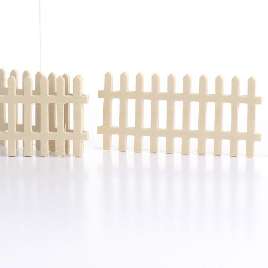 Making Craft Stick Miniature Picket Fences