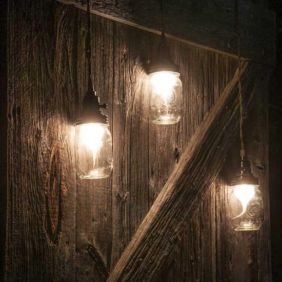 Stargaze Set Of 2 Hanging Mason Jar Pendant Lights By: Rustic Brown Mason Jar Pendant Lamp Kit
