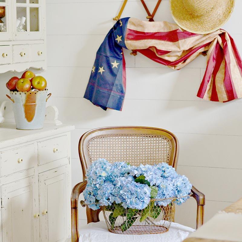 Primitive 13 Star Betsy Ross Flag Americana Decor Home
