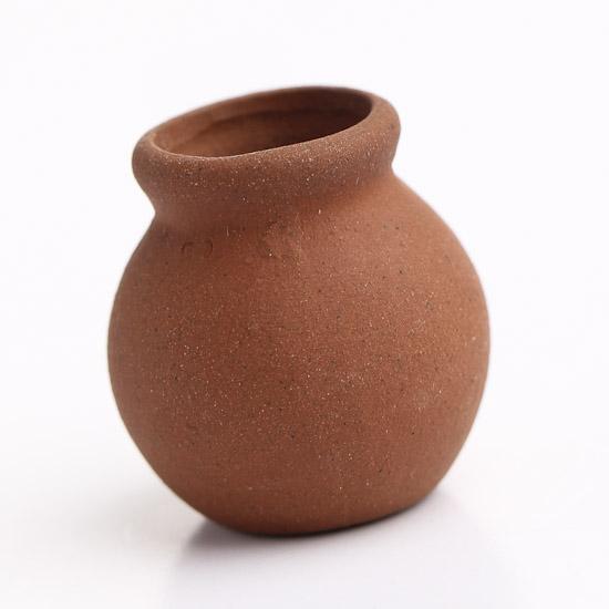 miniature terra cotta clay urn