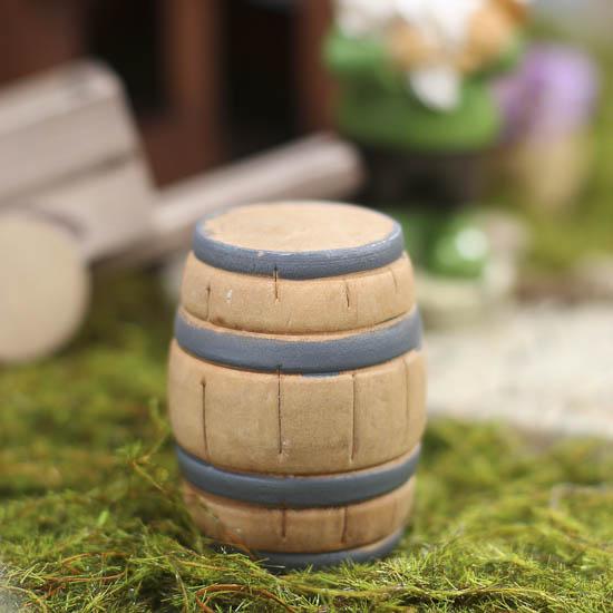 Gnome Garden: Miniature Fairy Garden Barrel